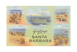 Vintage Greetings from Santa Barbara