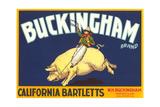 Buckingham Pear Label