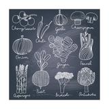 Tasty Vegetables Reproduction d'art par Smilewithjul