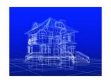 House Blueprint Reproduction d'art par Mike_Kiev