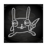Cute Hand Drawn Illustration  Vintage Blackboard Texture Background