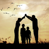 Family Parents and Children  Secure and Protecting Home