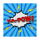 Ka-Pow! Comic Speech Bubble  Cartoon