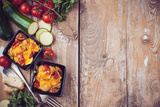 Two Dishes of Vegetable Casserole