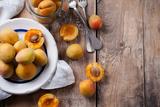 Rustic Still Life with Apricots Papier Photo par Manera