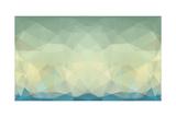 Abstract Triangle Art in Pastel Colors Reproduction d'art par Artnis