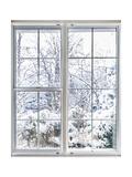 Winter View Through Window