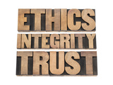 Ethics  Integrity  Trust Word