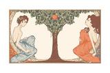 Adam and Eve  Art-Nouveau Style