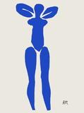 Papiers Decoupes - Nu Bleu Debout