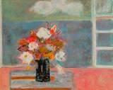 Bouquet Sur La Nappe Rose