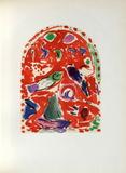 Jerusalem Windows : Zabulon (Sketctch) Reproduction pour collectionneurs par Marc Chagall