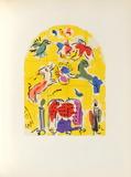Jerusalem Windows : Levi (Sketctch) Reproduction pour collectionneurs par Marc Chagall
