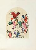 Jerusalem Windows : Asher (Sketctch) Reproduction pour collectionneurs par Marc Chagall
