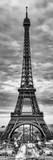 Eiffel Tower, Paris, France - Black and White Photography Papier Photo par Philippe Hugonnard
