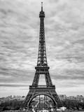 Eiffel Tower  Paris  France - Black and White Photography
