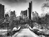 Snowy Gapstow Bridge of Central Park  Manhattan in New York City