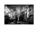 Urban Street Scene of Manhattan in Winter