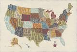 United State Signs Reproduction d'art par Erica J. Vess