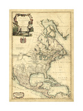 Antique Map of America III Reproduction d'art