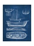 Antique Ship Blueprint II Reproduction d'art par Vision Studio