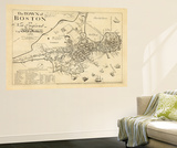 1722  Boston Captain John Bonner Survey Reprinted 1867  Massachusetts  United States