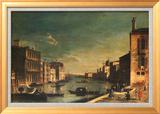 Grand Canal Venice, Looking East Art texturé encadré par Francesco Fironi