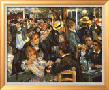 Le Moulin de la Galette Art texturé encadré par Pierre-Auguste Renoir