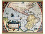 Carte des Amériques Reproduction d'art