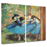 Dancers in Blue 2 piece gallery-wrapped canvas