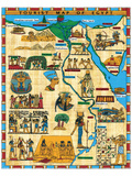 Tourist Map of Egypt Reproduction d'art