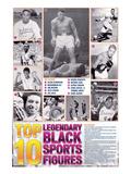 Legendary Black Sports Figures Reproduction d'art