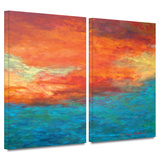 Lake Reflections II 2 piece gallery-wrapped canvas