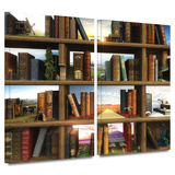Story World 2 piece gallery-wrapped canvas