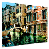 Venice Canal 3 piece gallery-wrapped canvas