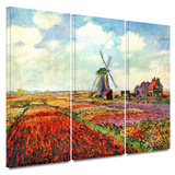 Windmill 3 piece gallery-wrapped canvas