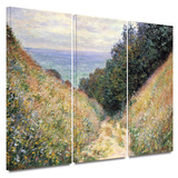 Footpath 3 piece gallery-wrapped canvas