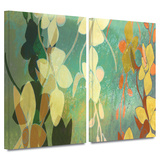Shadow Florals 2 piece gallery-wrapped canvas