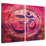 Om Mandala 2 piece gallery-wrapped canvas