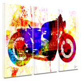 Moto III 3 piece gallery-wrapped canvas