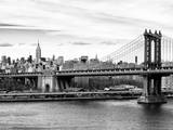 Landscape View of Midtown NY with Manhattan Bridge and the Empire State Building