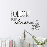 Follow Your Dreams EN Wall Decal