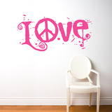 Peace & Love Wall Decal