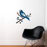 Grosbeak (blue) Wall Decal