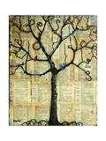 Print Tree of Life Mixed Media Painting