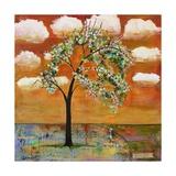 Landscape Art Tree Patterned Tangerine Tango Sky