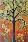 Bluebirds in Paradise Tree Wall Art