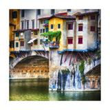 Small Balcony on Ponte Vecchio  Florence  Italy