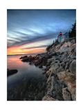 Bass Harbor Head Lighthouse at Sunset  Maine