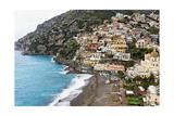 Beach of a Hillside Town  Positano  Italy
